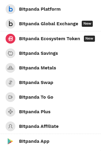 Bitpanda platform review list of services