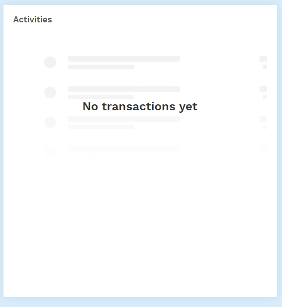Bitpanda homepage transaction bar review