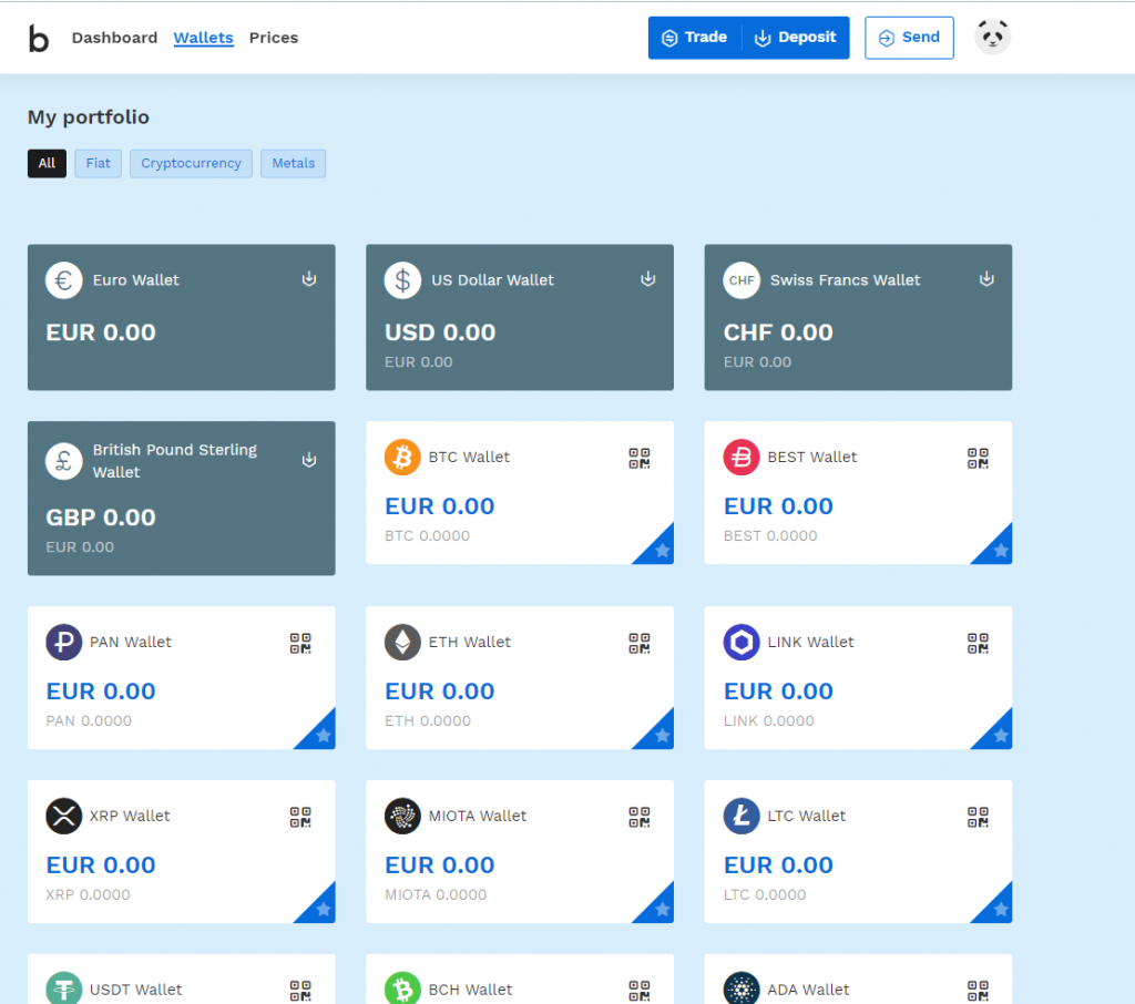 Bitpanda platform portfolio/wallet review