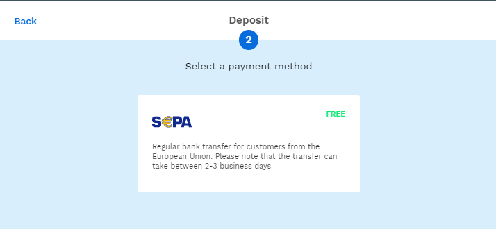 Review of payment methods on bitpanda