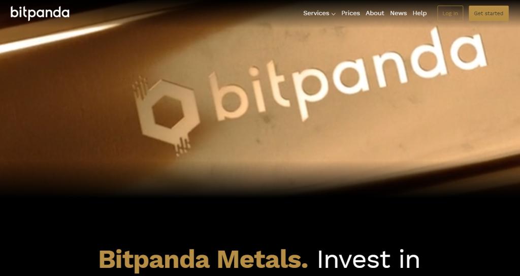Bitpanda metals landing page