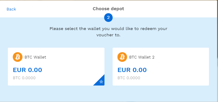 Choosing a wallet to deposit BTC when having multiple wallets